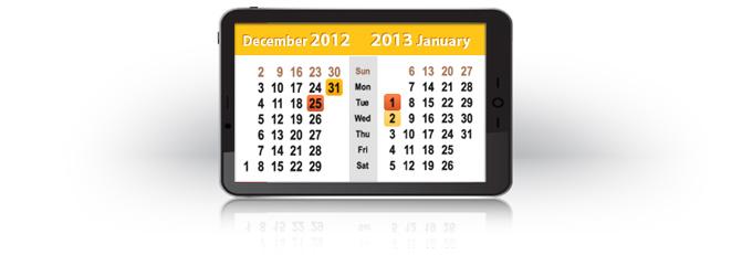 График работы LiteForex в праздничные дни (2013)